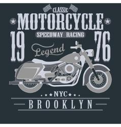 Motorcycle Racing Typography Graphics Brooklyn vector