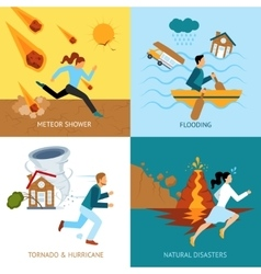 Natural Disasters Safety Design Concept vector