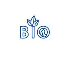 organic food line icon concept organic food flat vector image