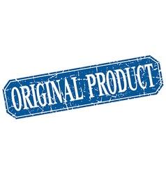 original product blue square vintage grunge vector image