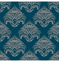 Paisley bell shaped flowers seamless pattern vector