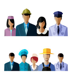 people avatar set vector image