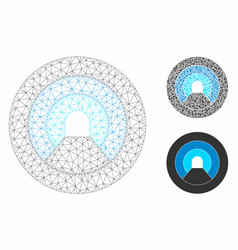 Pipe tunnel mesh network model and triangle vector