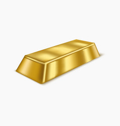 Realistic gold bar or bullion vector