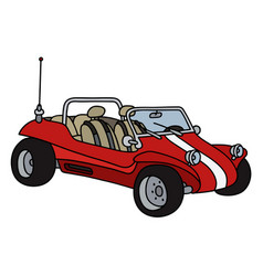 red beach buggy vector image
