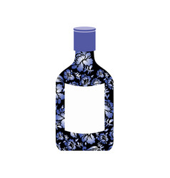 russian vodka bottle gzhel painting national folk vector image vector image