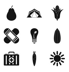 Sanitation icons set simple style vector