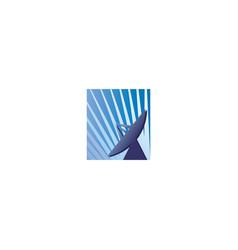 satellite dish logo design vector image