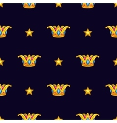 Seamless pattern with golden crown vector image