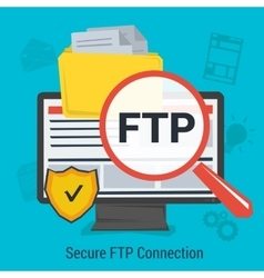 Secure FTP Connection vector