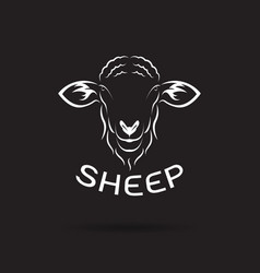 sheep head design on black background wild vector image