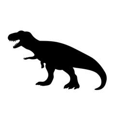 silhouette tyrannosaurus dinosaur jurassic vector image