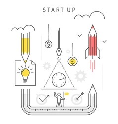 start up concept vector image