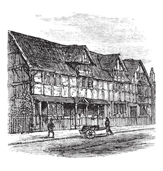Stratford-upon-Avon engraving vector