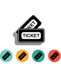 Ticket icon isolated on white background vector