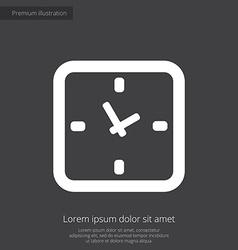 time premium icon white on dark background vector image