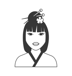 Traditional woman icon Japan culture vector