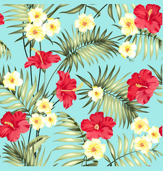Tropical design for fabric swatch vector