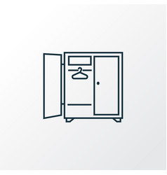 wardrobe icon line symbol premium quality vector image