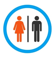 Wc Rounded Icon vector