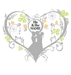 Wedding Silhouette decorative graphics vector image