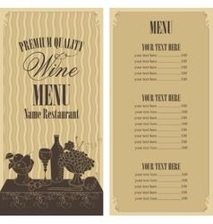 Wine menu list vector