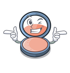 Wink blosh on in the shape character vector