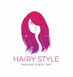 Woman beauty logo design template vector