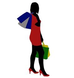 Woman shopping vector
