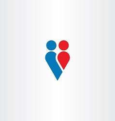 couple love heart symbol valentine vector image