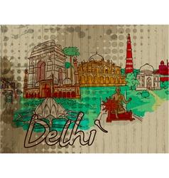 delhi doodles vector image