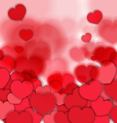 Red Blurred Hearts Background vector image vector image