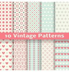 Vintage fashionable seamless patterns tiling vector image