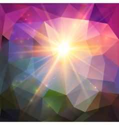 Abstract shining mosaic background vector image