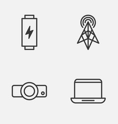 Hardware icons set collection of wireless router vector