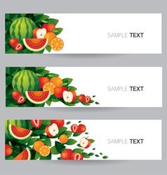 Mixed Fruits Banner vector image vector image
