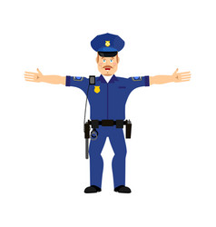 Police officer happy emoji isolated policeman vector
