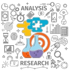 Analysis Research Concept vector image