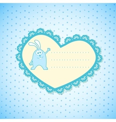 Baby Frame on Blue Background vector image