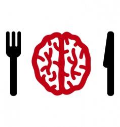 cannibalism icon vector image vector image