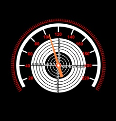 car speedometer with a target in the middle vector image vector image
