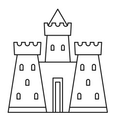 castle tower icon outline style vector image vector image