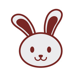 cute bunny face image vector image vector image