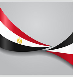 egyptian wavy flag vector image
