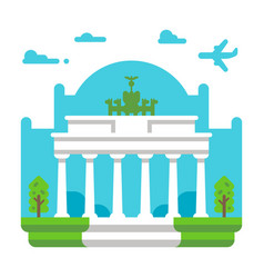 flat design brandenburg gate vector image