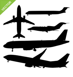 Plane silhouette vector image vector image