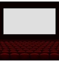 Cinema theatre with screen and seats vector image
