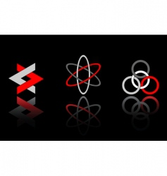 design elements on black vector image vector image