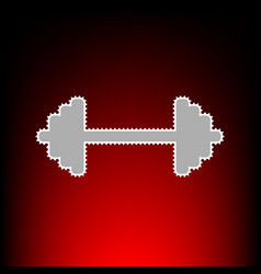 dumbbell weights vector image vector image