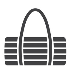 fitness bag glyph icon fitness and sport vector image